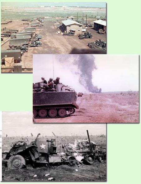 1) 397th T.C. Motor Pool, USARV; 2) Ambush! 3) Battle Damage.