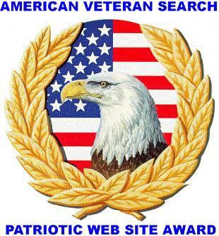 """American Veteran Search """"Patriotic Site Award"""""""