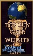 TOP GUN GOLD WEBSITE 1998 Award!