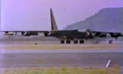 B-52, Take off--wing tips flapping