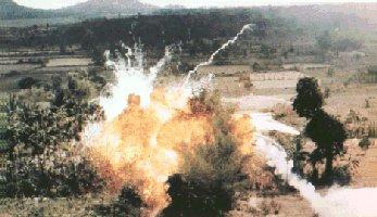 Bomb run.