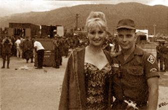 Baton twirler: Diane Shelton and Gene Kuentzler