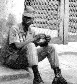 Photo: Francis (Dee) Kennedy, at the Darlac front gate, Ban Me Thuot 1966-1967.