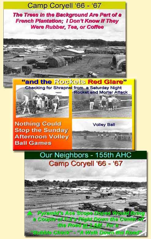 Pyramid & Camp Coryell, Ban Me Thuot; Rockets Red Glare; 155th AHC. 1966-1967.