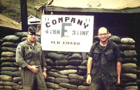 Photo: Duc Pho Fire Base, January 1969, Left: Tom Utts, Right: Bill Utts.