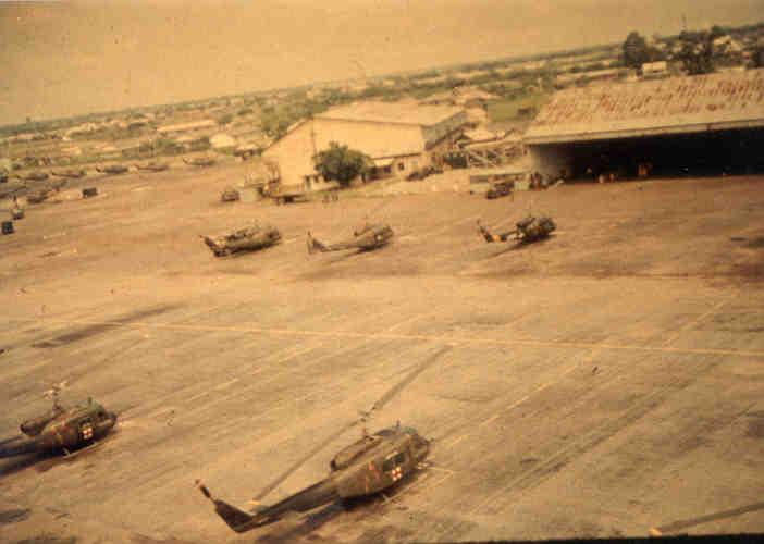 Photo: Tan Son Nhut Airbase Heliport, Vietnam 1968.