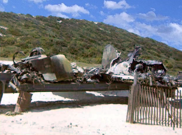 Photo: Remains of USAF F-4C, in dump area, 28 Jan 1969.