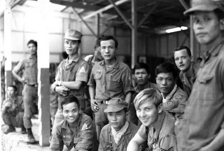 Photo: Sgt Larry Eley 'Surfer', North Station, night of Line Standby with Vietnamese Militia. November 1969.