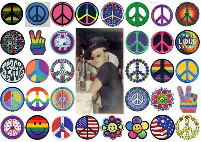 25. Da Nang AB: 366th TFW: Peace icons. 1969. [Peter Halferty photo].