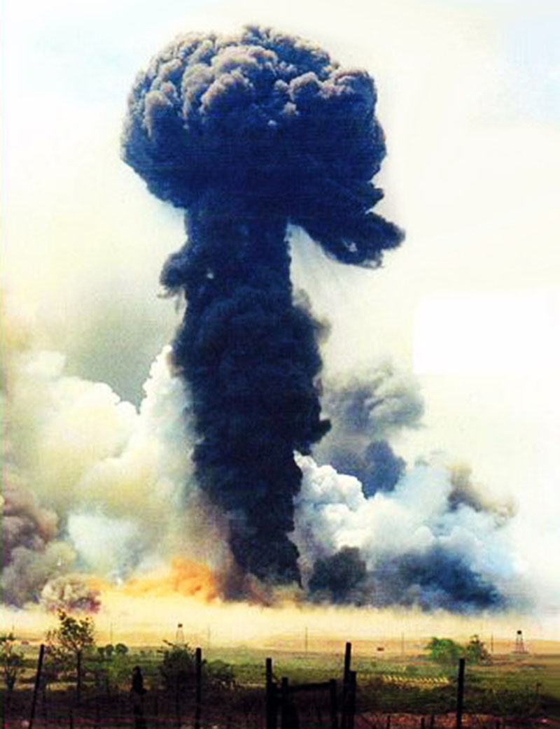 11. Da Nang AB: 366th TFW: Bomb Dump ASP-1 Explosions. Many Army, Air Force, Marines, Navy, ROK soldiers and many civilians lost part or most of their hearing that day.This is not my photo.It was at an LZ just at the end of base somewhere -- but I remember these colors! Like all those thousands of 50 gallon-drums of Agent Orange that went up as well. The ASP # 1 exploded like this for two days straight. $ Cost 100 mill. Camp Hoover leveled. Camp Monahan heavyly damages. Camp Briggs slight damage. Dog Patch completely destroyed. Hill 10, Hill 55, Hill 34, Hill 37, Hill 327 destroyed. 38 tons of spent ammo . [Peter Halferty photo].