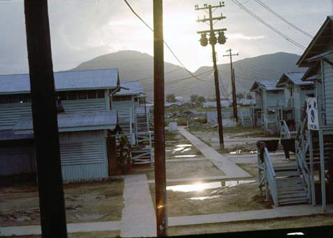 3. Da Nang AB, 366th TFW: The night is coming, but not necessarily a peaceful sleep. Freedom Hill 327 catches the setting sun. 1969-1970. [Photo by Ed Burchard].