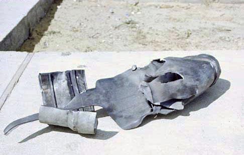 9. Da Nang AB, 366th TFW: Debris. 1969-1970. [Photo by Ed Burchard].