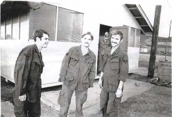 1. Da Nang AB, 366th TFW: Mugging infront of the 366th TFW Barracks -- The Professionals. 1969-1970. [Photo by Ed Burchard].