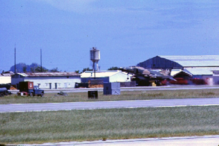 5. Da Nang AB, 366th TFW: F-4 Phantom lift off from runway. 1969-1970. [Photo by Ed Burchard].