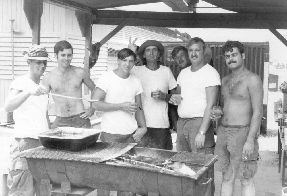 2. Da Nang AB: Charlie Phillips and group. 1971. [Photos by Ken Frick].