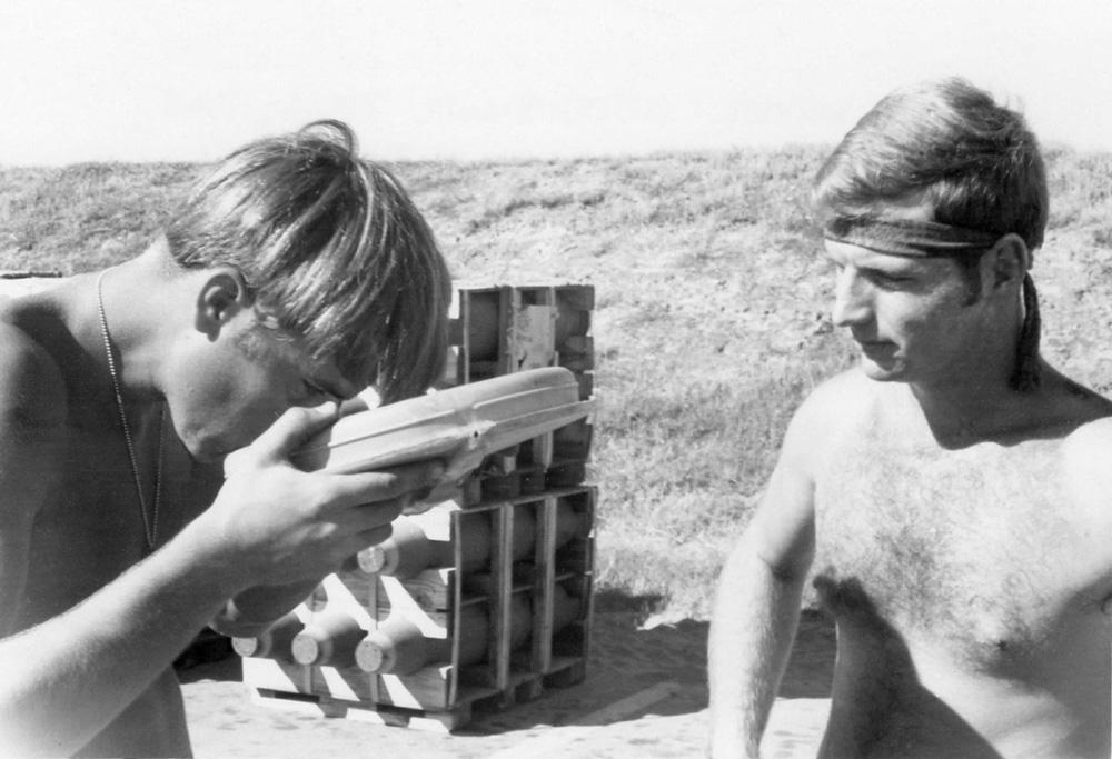 5. Da Nang AB: (Groundhog) and Mark Wagner (Motor Mouth). 1971. [Photos by Ken Frick].