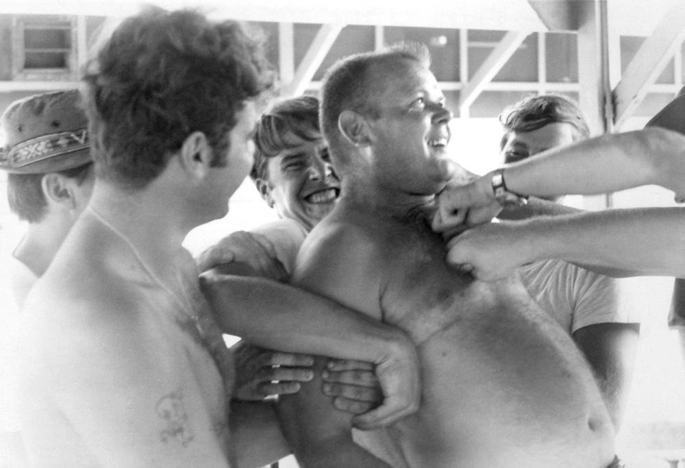 14. Da Nang AB: Sgt Miller gets his :). 1971. [Photos by Ken Frick].