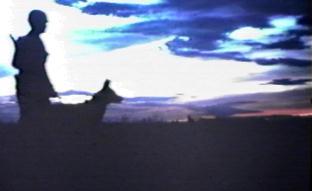 Sunset. Don Poss & Blackie