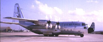 Photo by Don Poss, WS LM-01. C-130 taxing at Da Nang AB, 1965.