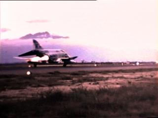 Da Nang Air Base, F4 Phantom afterburners take off.