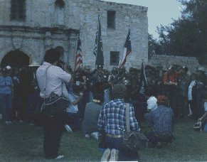 Ceremony in front of the Alamo
