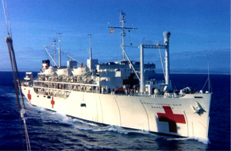 USS Sanctuary hospital ship. Da Nang 1969