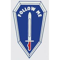 "Decal: ""Infantry School, Follow Me"""