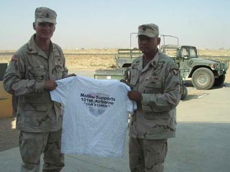 The unit's lSG changing Command over to incoming lSG city t-shirt