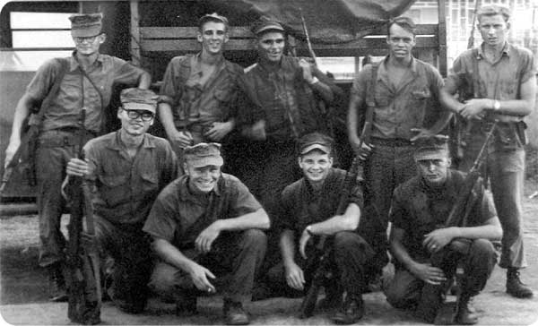 Seabees, part of H Company, MCB-7 in Phu Bai, SVN, 60 miles south of the DMZ.