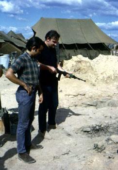 Bob & I test firing an M2.