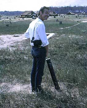 Terry caught in a quite moment. Biên Hòa 1965. P-tube.