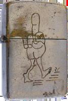 Zippo: (Front) [A Walking Bird]
