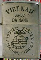 Zippo: (Front)VIET NAM, United States Marine Corp , DA NANG, 1966 -1967