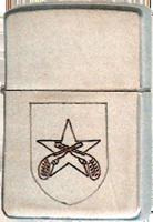 Zippo: (Front) SSGT Aaron L. Goldberg, QC Patch / Crossed Pistols, 1968-1969.