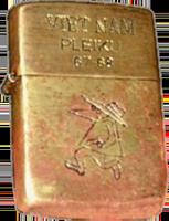 Zippo: (Front) Vietnam Plekiu 1967-1968