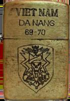 Zippo: (Front) VIET NAM, DA NANG 69-70. 1969-1970