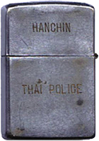 Zippo: (Back) HANCHIN. Thai Police