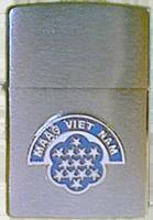 Zippo: (Front) (Front) MAAG VIET NAM, [DA NANG], 23rd ABG/AP, 1965