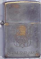 Zippo: (Front) 24 July 1970 - 22 July 1971