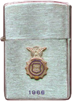 Zippo: (Front) (Front) Don Poss. 6252nd Air Police Squadron, Da Nang AB, 1966.