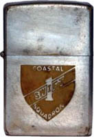 Zippo: (Front) [CREST], COASTAL , SWIFT 1, Squadron