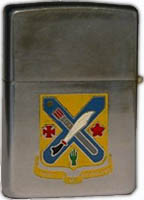 Zippo: (Front) [CREST], Unit Insignia for the, 2nd Regiment U.S. Army