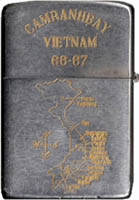 Zippo: (Back) Cam Ranh Bay Vietnam 1966-1967