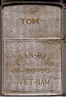 Zippo: (Back) Tom Parson, PHAN-RANG, 1968-1969-1970, VIET-NAM