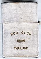 Zippo (Back): Neal, Kenneth, NCO CLUB UBON THAILAND , Ubon RTAFB, 8th SPS; Udorn RTAFB, 432nd SPS, K9: Max K000; Prince 563M, Rinny 53X4, Major 27M7, 1968-1969; 1974-1975