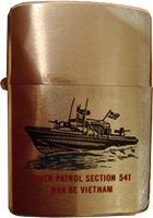 Zippo, Front: VIETNAM, US NAVY, River Section 541 of Task Force 114, Charles Doherty, 1967-1968