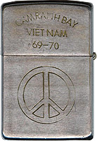 Zippo: (Front) King, Norman J., Cam Ranh Bay AB, 12th Security Police Squadton, 1969-1970