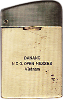 Zippo: (Front) MSgt Raymond L. Osbourne, Jr., Da Nang AB, 366th SPS, N.C.O. OPEN MESSES, VIETNAM, 1971-1972. submitted by, L. Osbourne