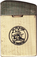 Zippo: (Front) [CREST]  MSgt Raymond L. Osbourne, Jr., Da Nang AB, 366th SPS, N.C.O. OPEN MESSES, VIETNAM, 1971-1972. submitted by, L. Osbourne