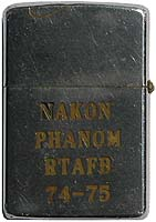 Zippo: (Back) Nakhon Phanom RTAFB, 1974-1975, Jonathan Faulkner, 56th SPS